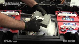 Barry explains how to replace a stock controller on a Club Car Precedent golf cart. Their are 2 types of controllers in these golf carts and both remove and install ...