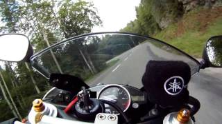10. Onboard Yamaha YZF R6 2008 - GoPro Hero HD - Swiss roads - 1/2