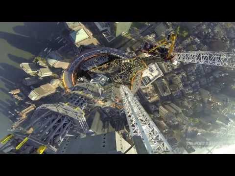 One World Trade Center Spire Installation Video