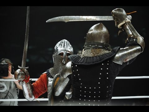 Russians have a medieval sword fighting event inside an MMA octagon