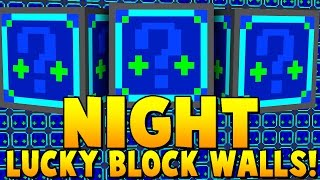 NIGHT LUCKY BLOCK MOD WALLS CHALLENGE | Minecraft - Lucky Block Mod