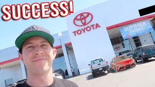 Trying to Buy the FIRST 2020 Supra in California! by TJ Hunt