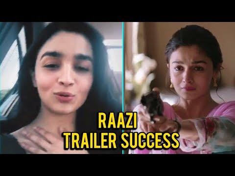 Alia Bhatt's Message To Fans For Loving 'Raazi' Tr
