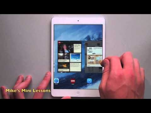 Multitasking Gestures on the iPad Mini – Mike's Mini Lessons