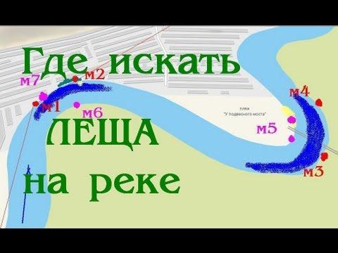 где искать леща на реке фидером