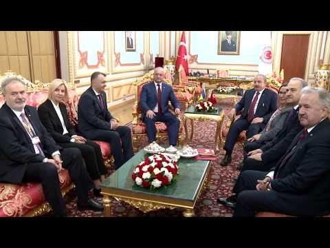 Președintele Moldovei a avut o întrevedere cu președintele Marii Adunări Naționale a Turciei