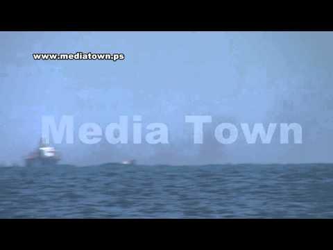 سفن حربية إسرائيلية تتعمد أغراق زوراق صيد فلسطينية