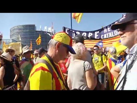 Στρασβούργο: Διαδήλωση Καταλανών έξω από το Ευρωκοινοβούλιο…