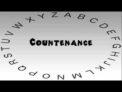 How to Say or Pronounce Countenance