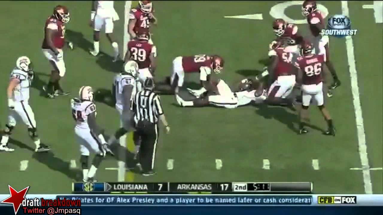 Trey Flowers vs Louisiana Lafayette (2013)