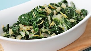 Get recipe: http://bit.ly/1u4Amdv How to Cook Swiss Chard Using Both Stems & Leaves Swiss chard is probably the most...