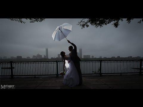 Fun Rain Wedding at the Boston Marriott Wedding Cambridge, MA