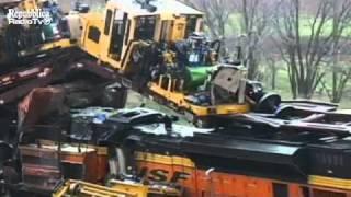 После крушения поезда
