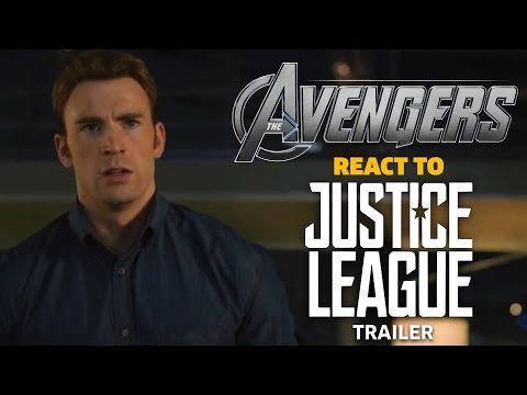 The Avengers react to Justice League Trailer (видео)