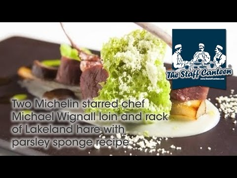 Two Michelin starred chef Michael Wignall loin and rack of Lakeland hare with parsley sponge recipe
