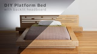 DIY Modern Plywood Platform Bed Part 1 : Frame & Nightstand Build - Woodworking