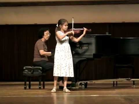 Violin recital at The University of Louisville - Age 8