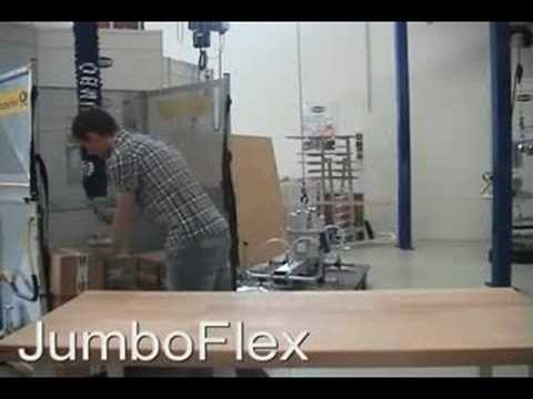 Vacuum Tube Lifter Jumbo Flex - Pick Up Boxes, Sacks, Barrels, etc. Video Image