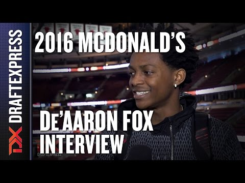 De'Aaron Fox - 2016 McDonald's All American Interview