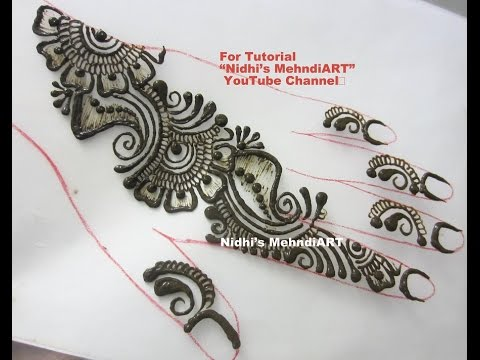 Video Simple Repeatable Shaded Arabic Henna Mehndi Design Tutorial download in MP3, 3GP, MP4, WEBM, AVI, FLV January 2017