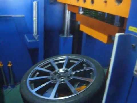 Проверка прочности диска WSP Italy W1055 LEGEND на косой удар обода (Porsche)