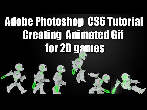 Adobe Photoshop cs6 Tutorial | Creating Animated Gif for 2D games ...