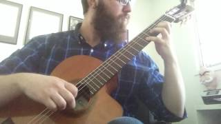 Bach - Prelude in D (for classical guitar)