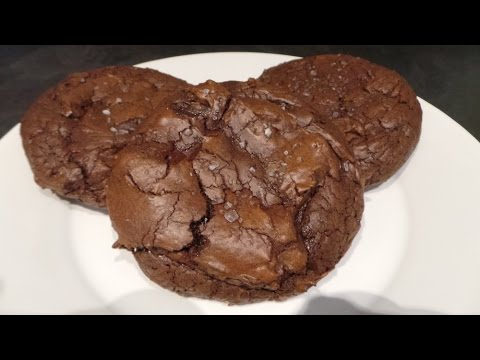 Easy Salted Chocolate Brownie cookies