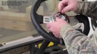8. Yamaha Golf Cart Steering Wheel and Adaptor   How to Install