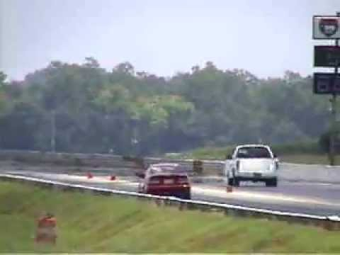 Ford F150 4.6L with 150 shot Nitrous vs Turbo Honda Civic at NOPI Nationals