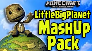 Minecraft PS3, PS4, Xbox - Little Big Planet MASH-UP PACK! (Skin Pack, Texture, LBP World)