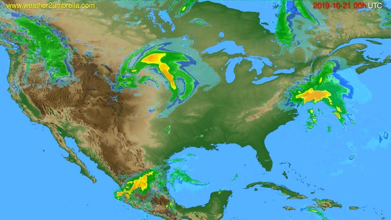 Radar forecast USA & Canada // modelrun: 12h UTC 2019-10-20
