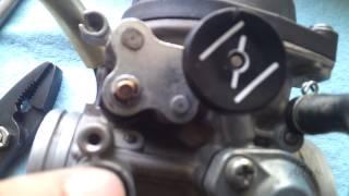 7. DRZ400SM Carburetor Removal / Pilot Jet Removal