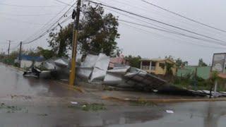 Huracán María causa daños en Dominicana pese a degradarse