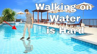 Video Why is it so Difficult to Walk on Water? Amazing Water-Tension Experiment MP3, 3GP, MP4, WEBM, AVI, FLV Juni 2019