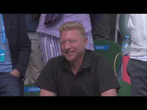 Novak Djokovic Impersonates His Coach Boris Becker After Win Against Fabio Fognini TRUE HD