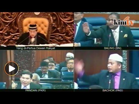 "Parlimen bergema ""Takut! Takut!"", Pandikar tangguh sidang lari tinggalkan dewan"