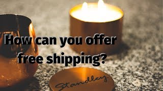 Offering free shipping on your candles