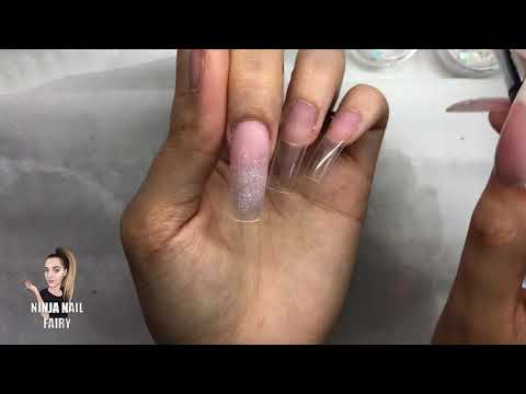 Acrylic nails - DOING MY NAILS  FRENCH AND OMBRE GLITTER  WINTER WONDERLAND NAIL MATE ACRYLIC