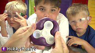 HobbyMom shares how to make an ICE Fidget Spinner! HobbyScience Lab fun with HobbyKids today. Subscribe for NEW Shows: http://www.youtube.com/subscription_center?add_user=HobbyKidsTV ---TOY VIDEOS---Family Video Gaming Fun: https://www.youtube.com/playlist?list=PLzDMAGLsSlZrhbIdcXn1B5qLtd_6D9407World's Biggest Surprise Eggs: https://www.youtube.com/playlist?list=PLzDMAGLsSlZoNvpGg-ijs4DlYu2RMSOxoGames and Challenges: https://www.youtube.com/playlist?list=PLzDMAGLsSlZqo_IVVsyn7Sn0yFehplgK1Best Family Fun Shows: https://www.youtube.com/playlist?list=PLzDMAGLsSlZpBsqsE4zkBbucAsQ0bgiWdLearning Playlist:http://www.youtube.com/playlist?list=PLzDMAGLsSlZo8aAHrPRzVmM_oW_hZtxdO---OUR OTHER HOBBY CHANNELS---HobbyFamilyTV (Vlog and Extras): http://www.youtube.com/user/hobbykidsvidsHobbyPigTV (Video Gaming):http://www.youtube.com/user/hobbygamestvHobbyFrogTV (Video Gaming):http://www.youtube.com/user/hobbytrixieHobbyBearTV (Toys, Video Games, more):http://www.youtube.com/user/hobbykidsland---FIND US---http://www.Twitter.com/HobbyKidsTVhttps://www.facebook.com/HobbyKidsTV/http://www.HobbyKidsTV.comhttps://www.instagram.com/hobbykidstv/---ABOUT HobbyKidsTV---HobbyKidsTV is the #1 place for kids to watch family-friendly clean shows! Video gaming and giant surprise egg adventures. We are world renowned for being the first and original inventor of all GIANT SURPRISE EGGS! It was our sons unique idea in 2013 to make a wonderful GIANT surprise egg for all our fans. We are the leader in kids creative ideas, skits and science fun. Subscribe to HobbyKidsTV, the trusted brand of families across the globe. We produce the best and most fun kids toy and gaming shows. Collector of the best toys to teach kids imaginative play through games or adventures. HobbyKids love sharing fun educational learning and popular play. Be a HobbyFan today and subscribe for free to see new edutainment shows!---MUSIC BY---Epidemic Soundleotard groove 1spring cleaning song 4
