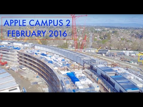 WATCH: Apple's unfinished spaceship campus looks enormous