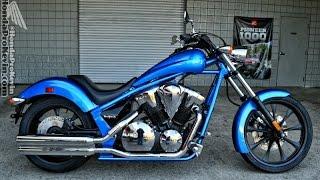 8. 2016 Honda Fury 1300 Chopper Walk Around Video - Blue VT13CX / Cruiser / Motorcycle