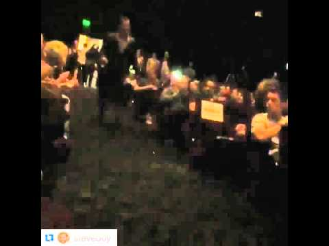 Leonatdo DiCaprio enter Samuel Goldwyn Theatre in Beverly Hills