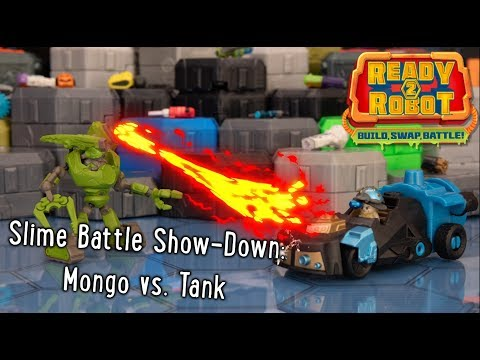 Ready2Robot | Slime Battle Show-Down: Mongo vs. Tank | Official Action Figure Play Video