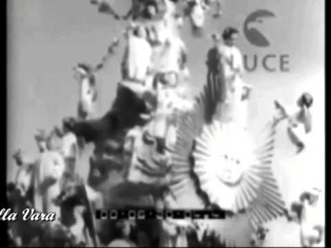 rare immagini della processione della vara di messina degli anni '50.