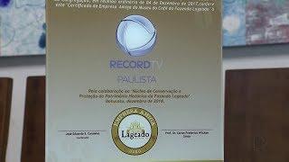 Record TV Paulista recebe certificado de empresa amiga do Museu do Café de Botucatu