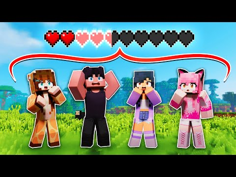 Minecraft But We SHARE ONE HEALTH BAR!