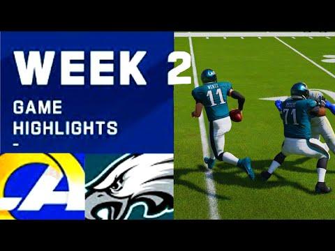 Rams vs. Eagles Week 2 | Madden 21 Simulation Highlights