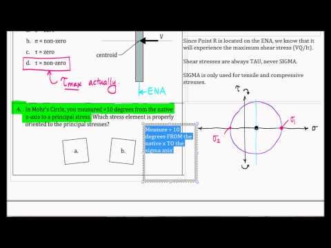 Mohr's Circle - Conceptual Exam Problem, F13 (Acerola)
