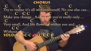 Within You Without You (Beatles) Strum Guitar Cover Lesson in C with Chords/Lyrics